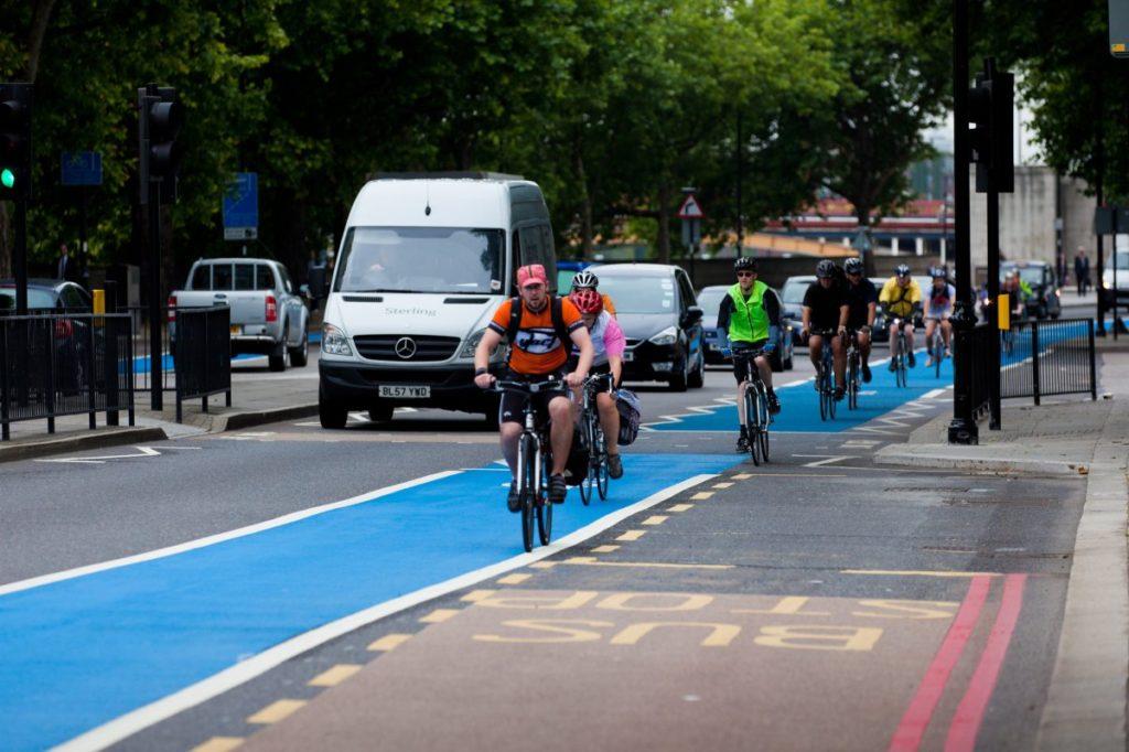 net-zero carbon emissions, cycle lanes, London