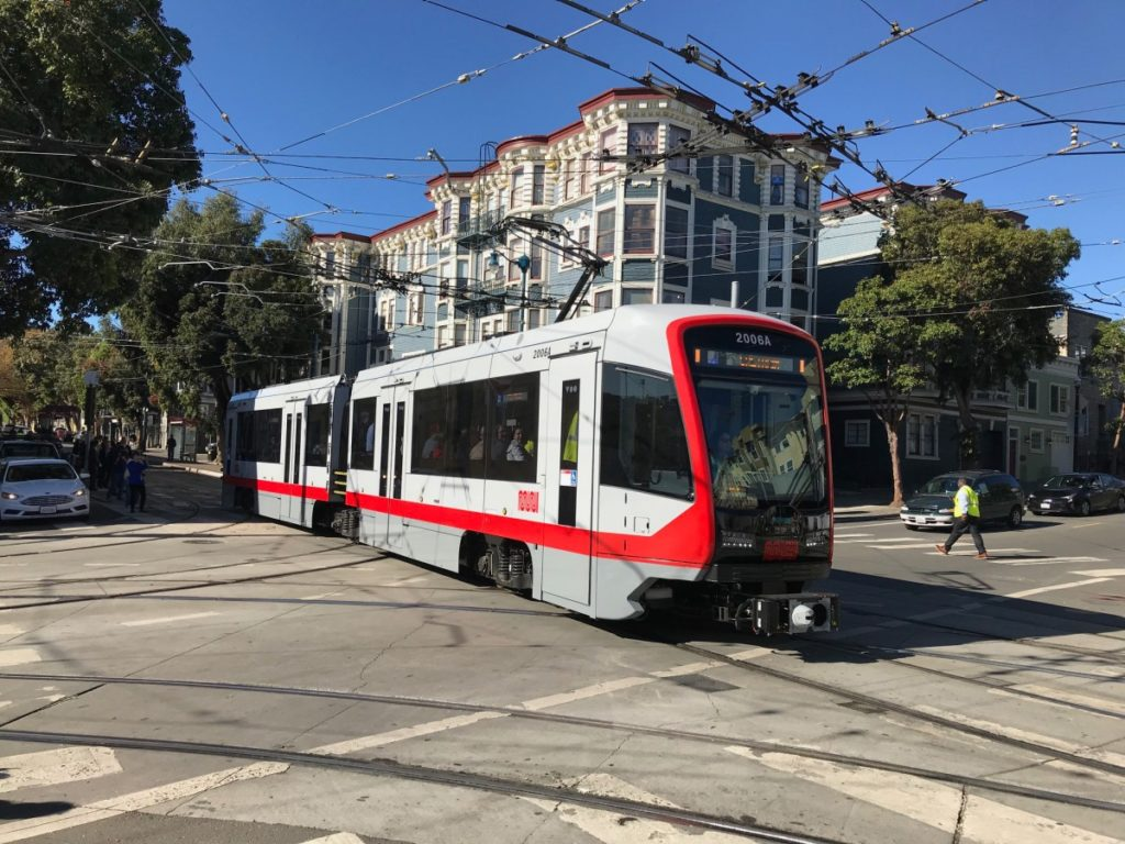 San Francisco; light rail; hybrid buses, transport