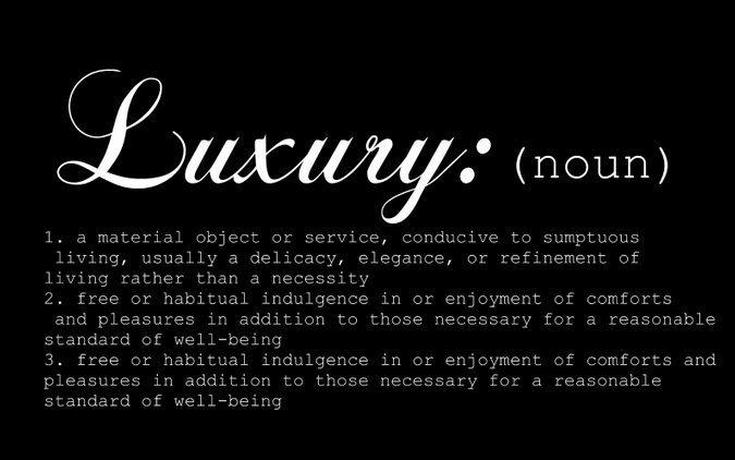 luxury definition